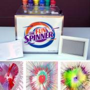 fun art spinner, art spinner, concessions, kids craft rentals, party rentals, spin art rentals, art rentals