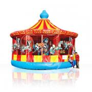 Bouncy inflatable merry go round
