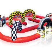 giant trike racing, inflatable race, inflatable rally racer, fun rentables